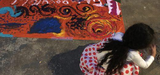 oficina de arte na ocupação 9 de julho
