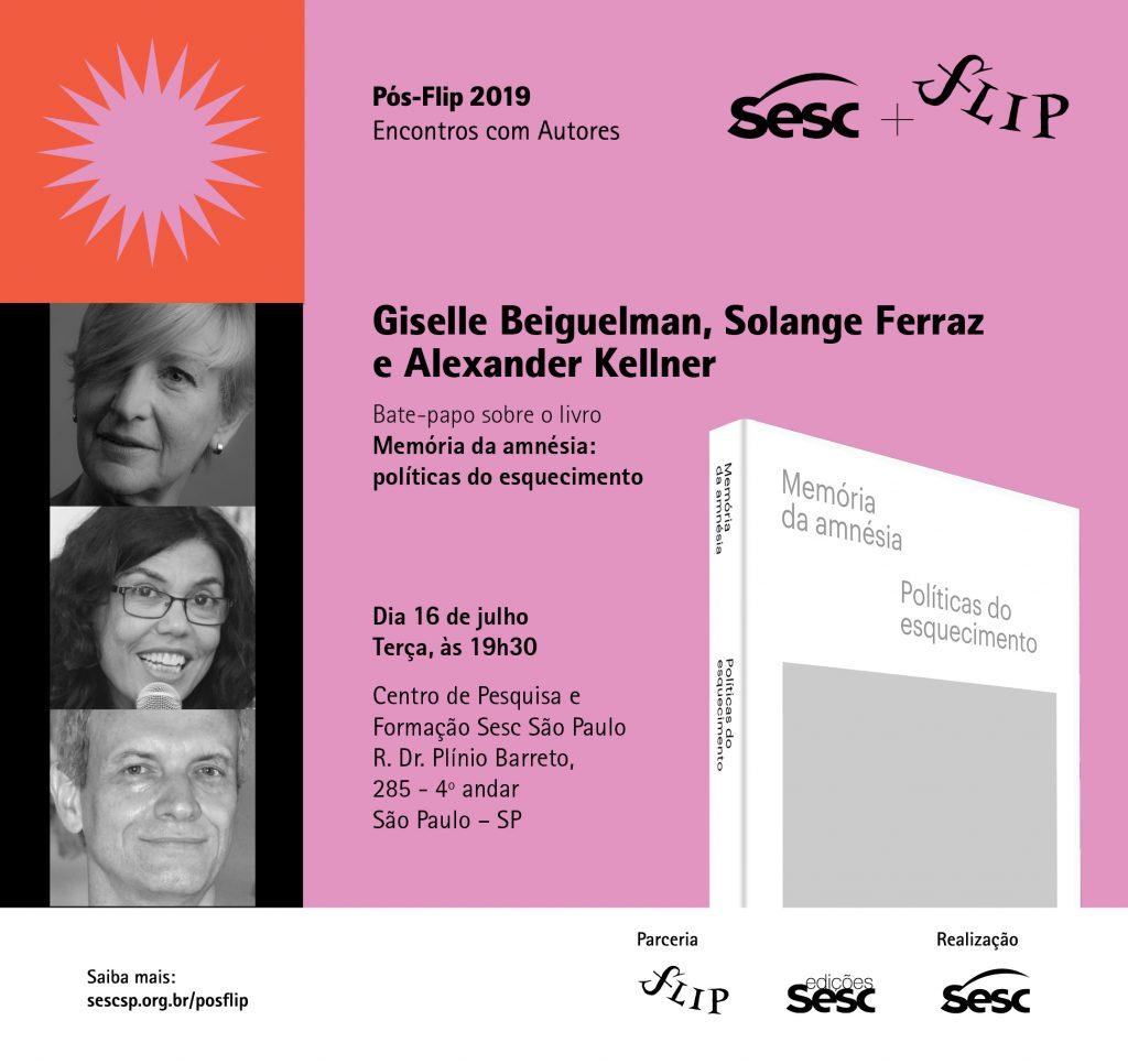 Memória da amnésia: políticas do esquecimento, de Giselle Beiguelman, tem lançamento no pós-Flip